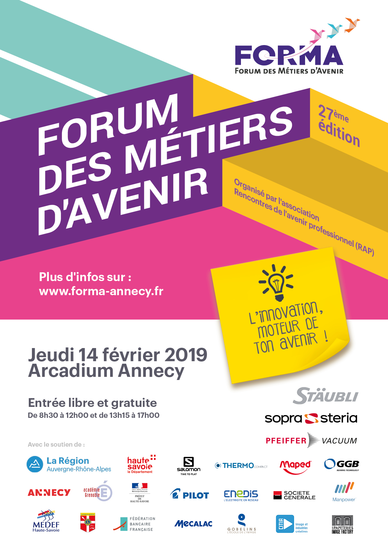 FORMA 2019 – RDV le 14 Février 2019 – Arcadium Annecy