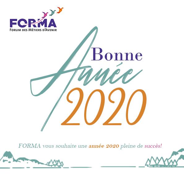 Toute l'équipe de Forma vous souhaite une merveilleuse Année 2020 !