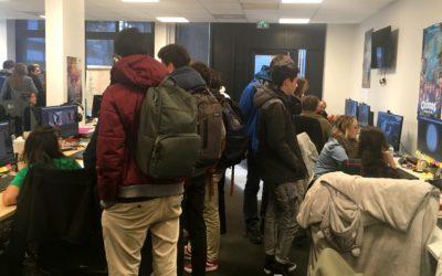 Une belle rencontre entre les élèves passionnés des Gobelins et des lycéens de Berthollet dont la passion est liée aux métiers du numérique !