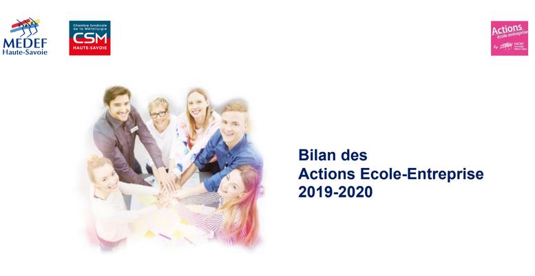 Bilan des actions école-entreprise 2019-2020